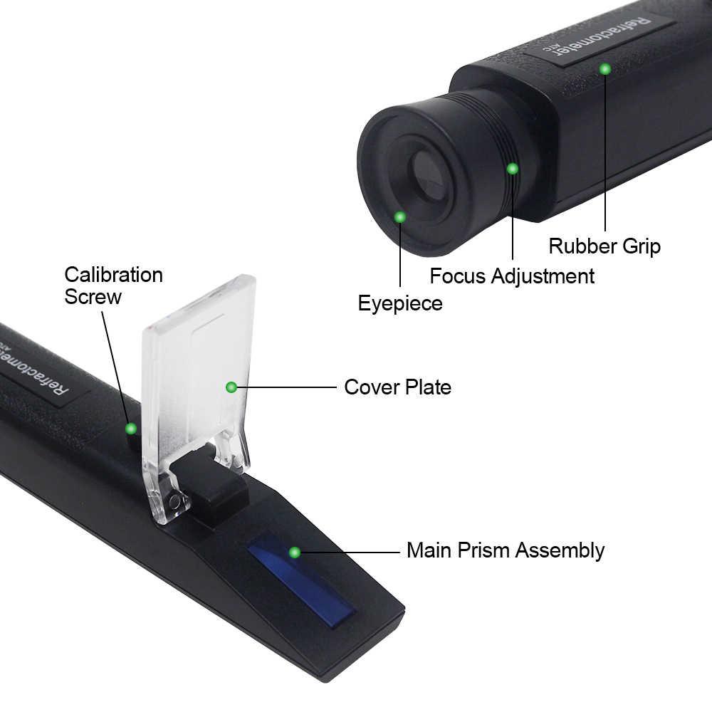 כף יד Refactometer 4 ב 1 מנוע נוזל Adblue פרופילן אתילן גליקול בודק רכב נוזלי סוללה אנטיפריז Refractometer