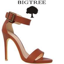 Bigtree женская обувь Лето 2017 г. слово пряжки женские босоножки бахрома сандалии на каблуках босоножки на высоком толстом каблуке sandalias de Salto alto