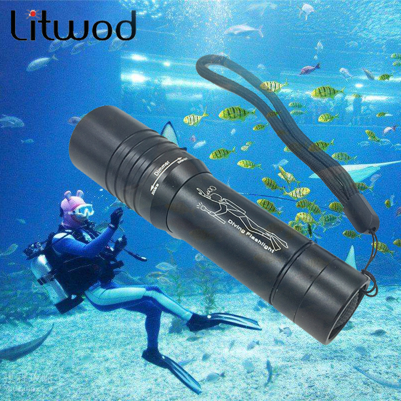 Z90DV02 3800Lm XM-T3 Waterproof Dive Underwater 80 Meter LED Diving LED Flashlight Torch Lamp Light Camping Lanterna for 18650