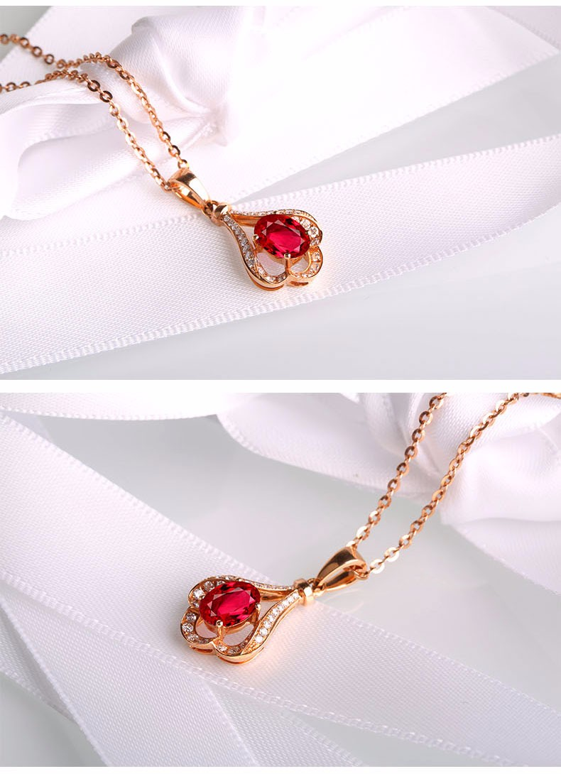 haste plated necklace gold products ruby red goods