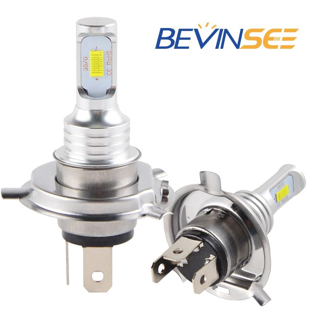NICECNC 100W/Pair Motorcycle H4 LED Headlight Bulbs For Kawasaki ZR650 Z650 ABS Z 650 2017 2018 Daytime Running Lights Lamp|  - title=