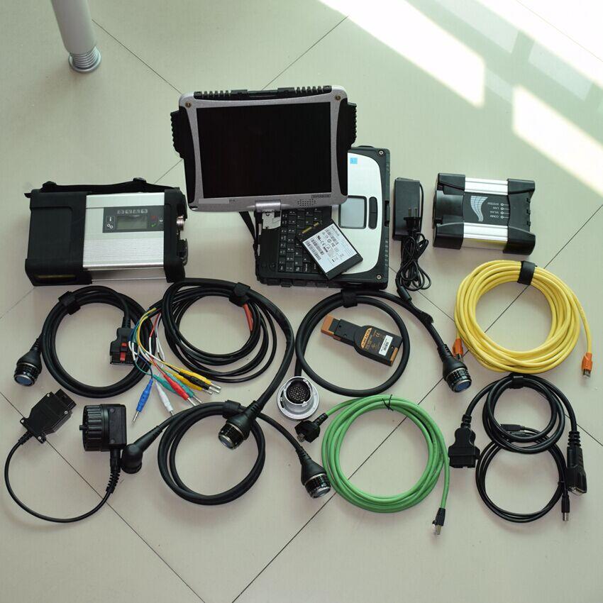 2018 Новое поступление 2in1 инструменту диагностики для BMW ICOM NEXT для sd соединяет МБ Звезда c5 с cf19 ноутбук 4 г с 1 ТБ ssd готовая к применению