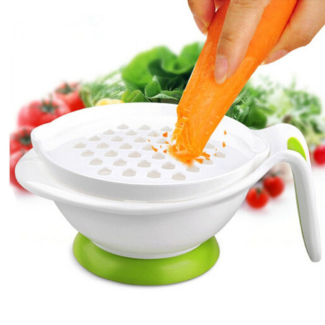 8-in-1 Set Baby Food Mill Feeding Grinding Bowl Infant Handmade Multifunction Grinder Fruit Nutrition Supplement Food Mill Bowl