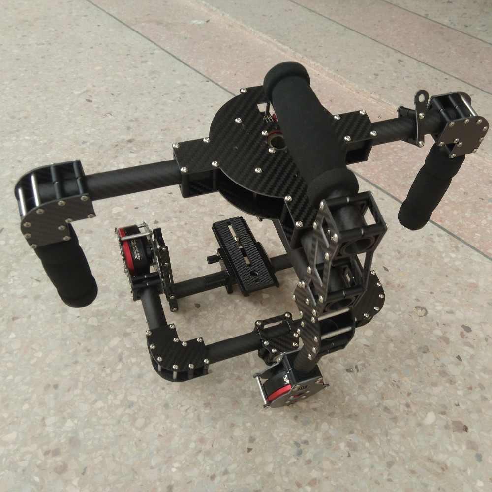 新 3 軸デジタル一眼レフカメラカーボンブラシレスジンバルハンドル/安定化マウントステディカム実行映画写真フレーム