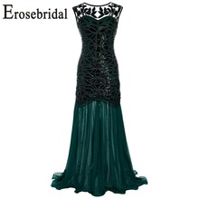Erosebridal Chiffon Mermaid Evening Dress Long 2019 New Real Image Formal Women Party Wear 6 Colors In Stock 48 Hours Shipping