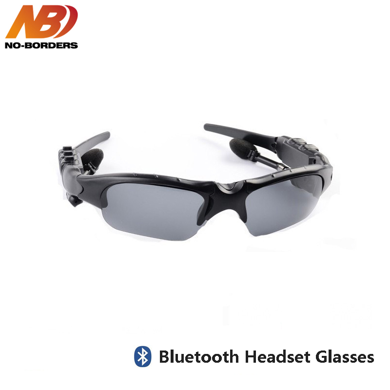 NO-BORDERS Cycling Sunglasses Riding Bluetooth Earphone Smart Glasses Outdoor Sport Wireless Bike Sun Glasses Headphone With Mic