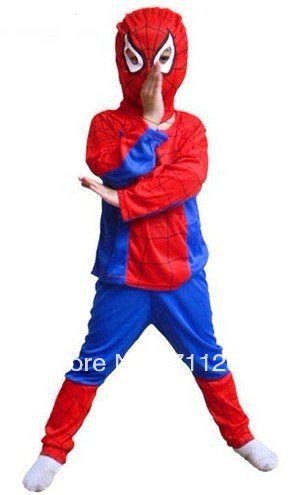 New Kids Spiderman Costume Outfit 3 6 Years old S,M.L Halloween Christmas Birthday party Gift-in ...