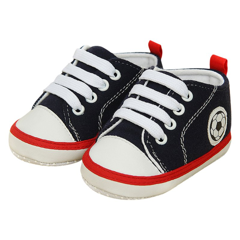 Casual Unisex Baby Soft Soled Crib Sports Shoes Laces Up Sneakers Walking Shoes 0-18 M X16
