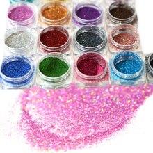 1Bottle Shining Holographic Laser Ultra-thin Powder Starry Pigment Nail Art Glitter Dust DIY Decoration Manicure Tool JIJX01-17