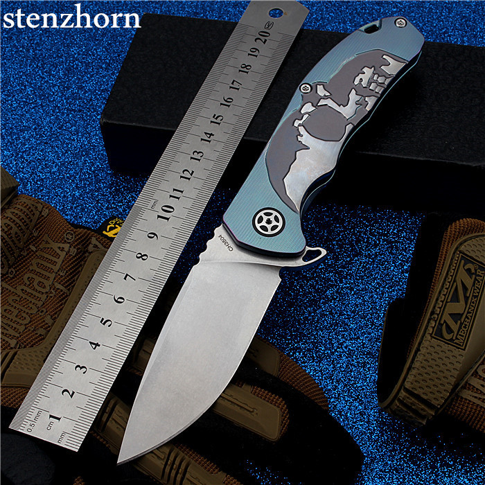 Stenzhorn Survival Knife New Rushed Navajas 2017 S35vn Knife Bearing Folding With A Blade With High Hardness In The Wilderness wilderness survival fire sparkle and blade cutter tool