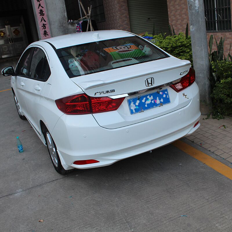 For Honda City Spoiler Auto accessories 2015 2016 2017 Car Tail Wing Decoration ABS Plastic Unpainted Primer Rear Trunk Spoiler for toyota corolla 2014 2015 2016 2017 abs plastic unpainted primer tail trunk lip wing rear spoiler decoration car accessories