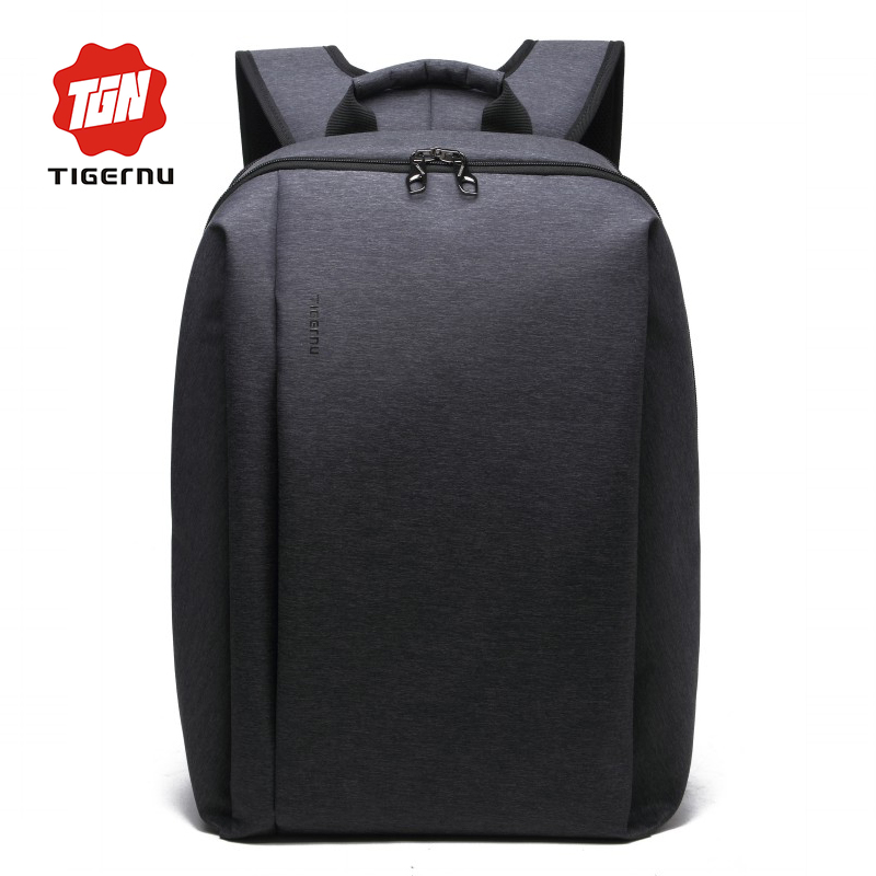 ФОТО 2017 Men's Backpack Black Nylon TIGERNU Waterproof Bag Backpack for Male Mochila 14.1 Inch Laptop Notebook Bag for Computer