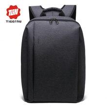 2017 hombres mochila de nylon negro tigernu bolsa impermeable mochila hombre mochila 14.1 pulgadas portátil bolsa de ordenador portátil
