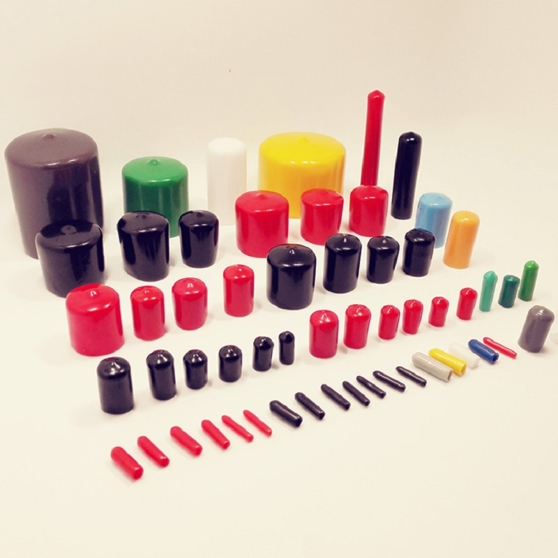 Rods /& Threads 18mm End Caps rubber plastic 15mm long End Covers for Tubes