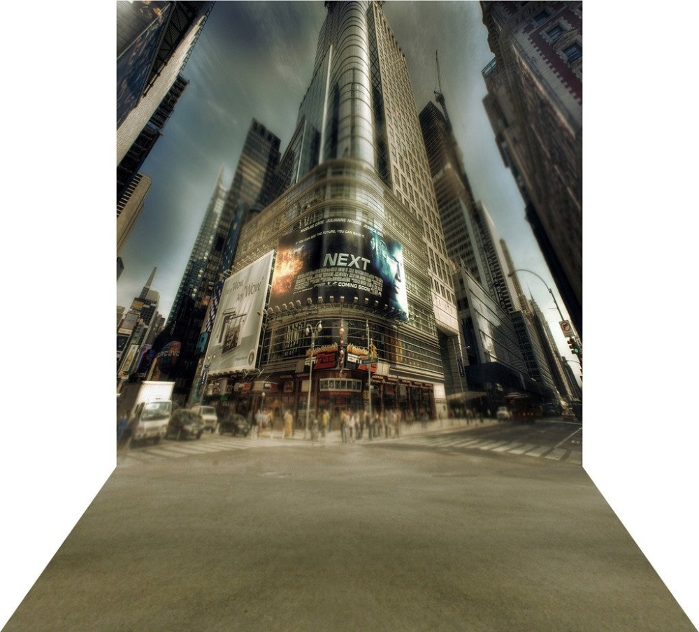 Capisco Downtown Skyscraper Street Building Mall Palace Custom Photography Studio Backdrops Background Vinyl