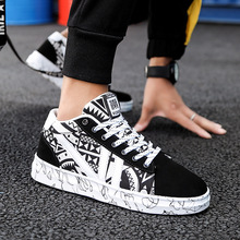2019 canvas Sneakers men Footwear Low Casual Elastic All Shoes low help classic couple cloth shoes students leisure Print Shoes цена и фото