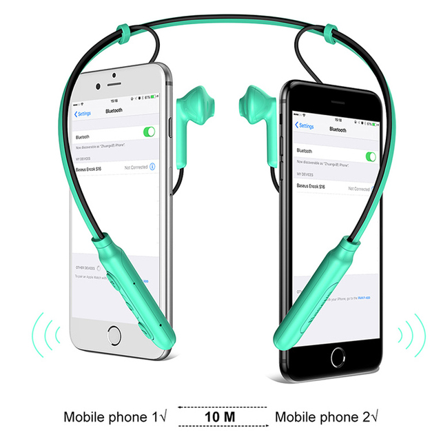 Baseus Neckband Bluetooth Earphone with Mic Wireless Headphone Stereo