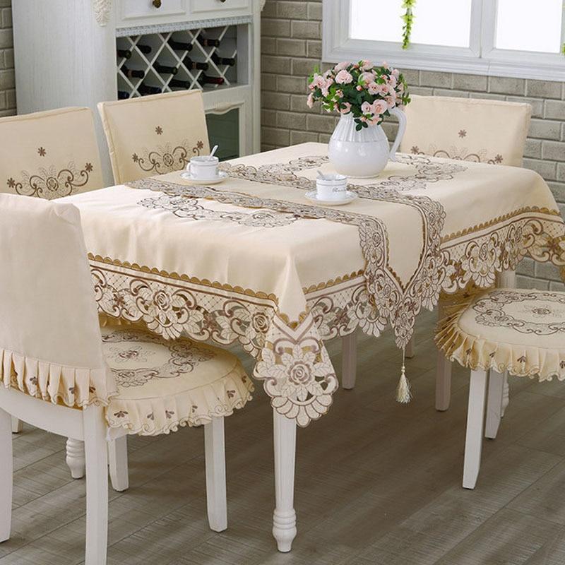 Luxury runner fancy tablecloths europe decoration lace - Manteles para navidad ...