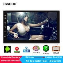 """Essgoo Android 2 Din Auto Radio 7 """"Mp5 Multimedia Player 1G + 16G di Navigazione Gps Autoradio WIFI bluetooth Videocamera vista posteriore Opzionale"""