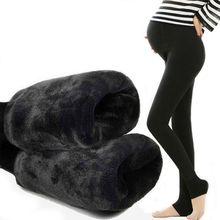 Леггинсы для беременных женщин; сезон осень-зима; Новинка года; брюки для беременных; бархатные плотные брюки; сезон весна-осень; теплая одежда для беременных