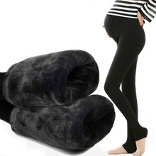 Pregnant Women Leggings Autumn And Winter 2018 New Pants Maternity Plus Velvet Thick Spring Wear Warm