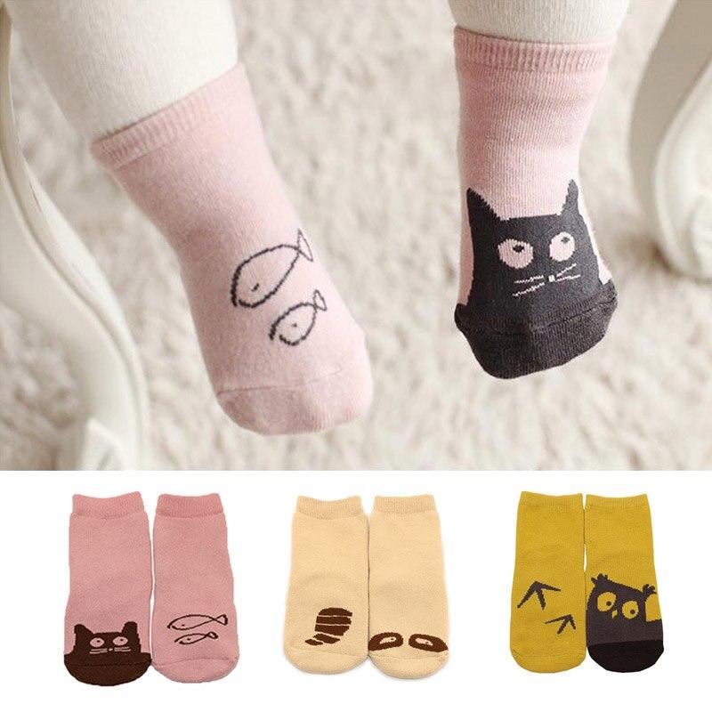 Mutter & Kinder 0-18 Mt Baby Socken Baumwolle Cartoon 3d Druck Neugeborene Sohlen Stiefel Pantoffel Kind Für Junge Mädchen Babys Socke Kinder Anti-slip Boden Tragen