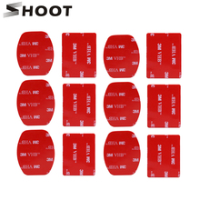SHOOT 1Curved Surface Adhesive Stickers Mount For GoPro Hero 6 5 4 H9 SJCAM Eken Xiaoyi Yi 4K Action Camera Helmet Kits