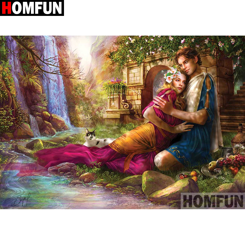 HOMFUN Full Square Round Drill 5D DIY Diamond Painting quot Handsome man quot Embroidery Cross Stitch 5D Home Decor A09077 in Diamond Painting Cross Stitch from Home amp Garden