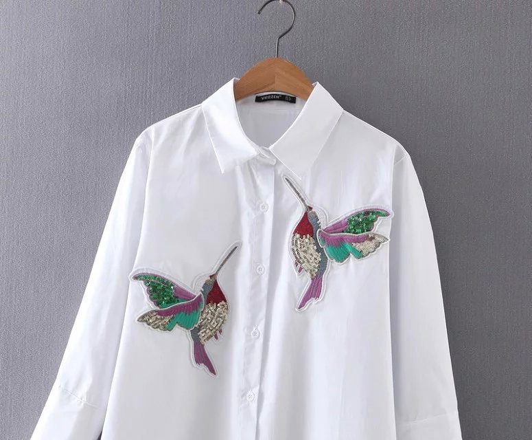 HTB1G2x3RXXXXXbfXXXXq6xXFXXXW - New arrival 2017 Women Bird Embroidered Blouse Shirts fashion Long sleeve