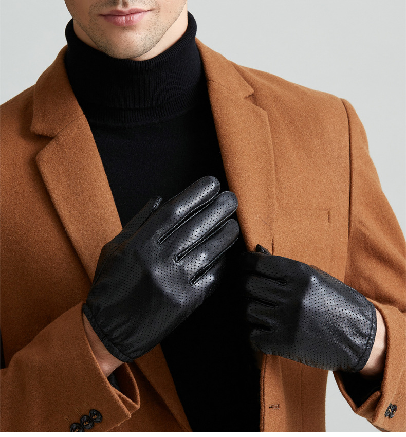 Gloves Leather discount Touchscreen 9