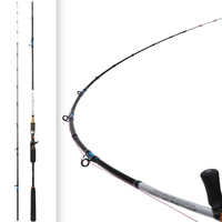 2.1m 8 40g Light Slow Jigging Rod Carbon Fast Action Fishing Rods Rotating Guides Reel Seat Titan Red Bream snapper