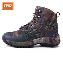 TFO men hiking shoes camouflage high boot outdoor sport sneakers climbing mountain trekking warming 100%  hiking shoes 2017