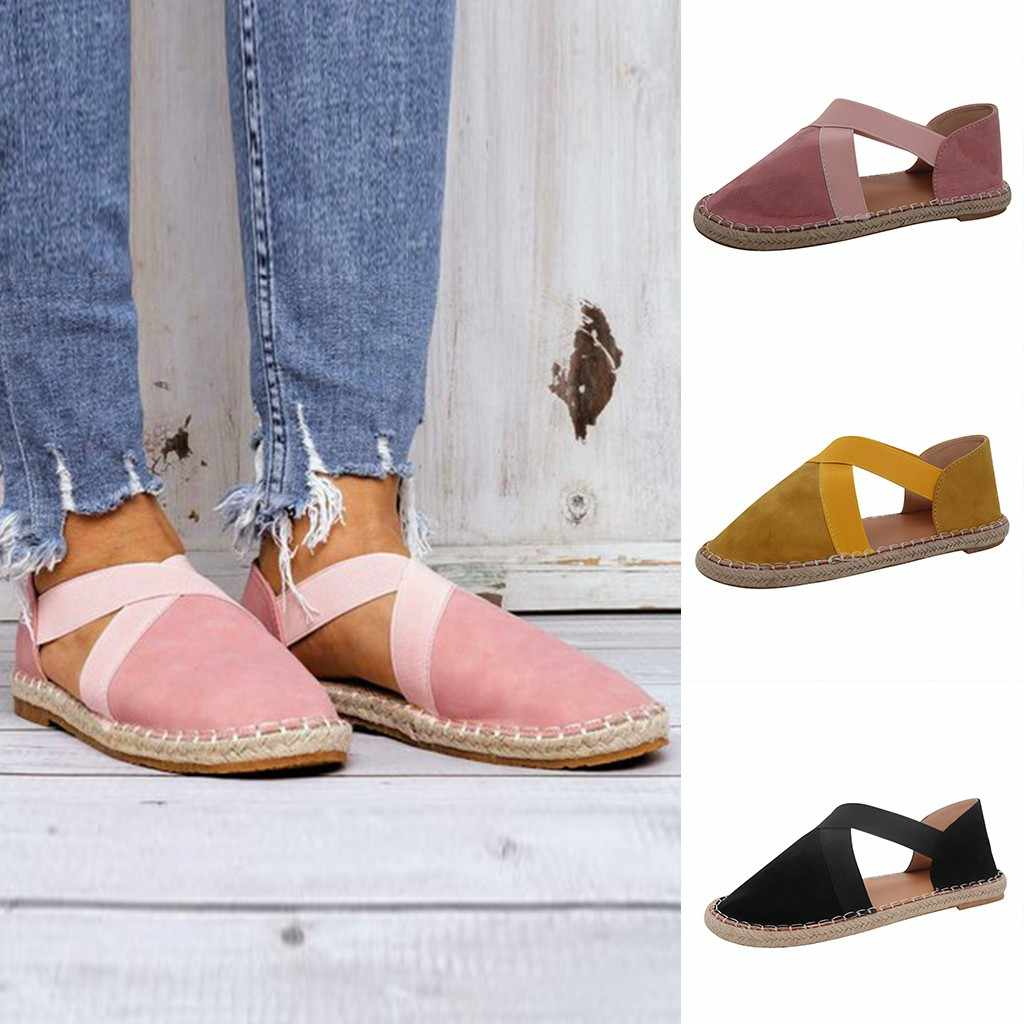 Sandalias de mujer de cuero genuino 2019, sandalias de verano con punta cerrada, sandalias de plataforma negras, zapatos Retro hechos a mano para mujer, sandalias