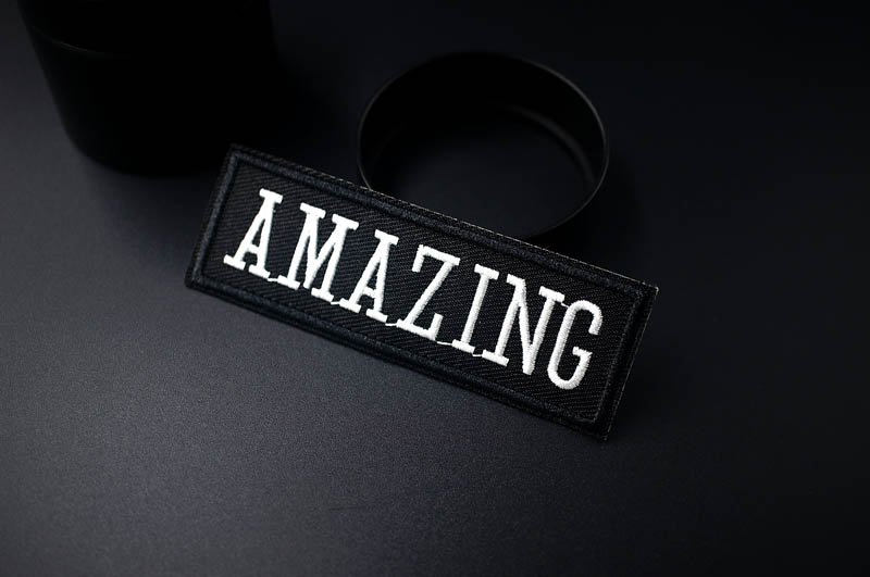 DIY Black White Written Words Patch Embroidered Cute Badges Hippie Iron On Kids Patches For Clothes Stickers Badge