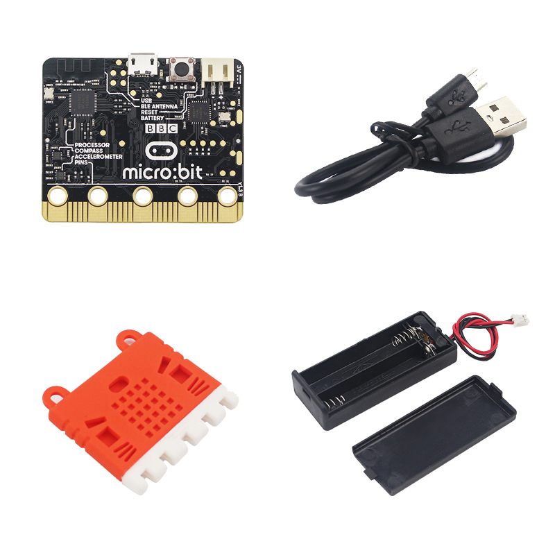 Hot Micro:bit Board Kit Micro:bit + Silicone Case + Micro USB Power&DATA Cable + 7# Battery Case For Kids Programming Education