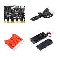 Горячий микро: бит плата комплект микро: бит + силиконовый чехол + микро USB питание и кабель для передачи данных + 7 # батарея чехол для детей Программирование образование