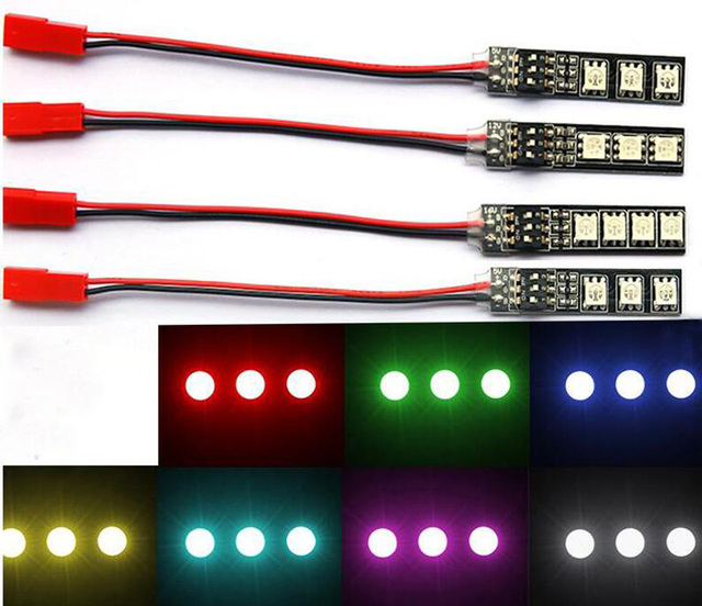 RGB lamp beads LED 5V 12V Switch board light belt bar for FPV multicopter drone navigation lamp accessories 3S LiPo 12V BEC