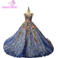 2017 без рукавов из бисера Голубой Вечерние Платья вечерние элегантные платья Цвета Кружево Vestidos De Festa Vestido Longo; Robe De Soiree