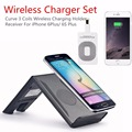 Wireless Charging Stand and Receiver Dock Station Qi Standard Curve Wave Style for iPhone 7 6plus, 6 S Plus 5.5inch