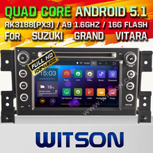 WITSON Android 5.1 CAR DVD GPS for SUZUKI GRAND VITARA car dvd gps 2 din car stereo Capacitive touch screen Qual-core 16GB Rom