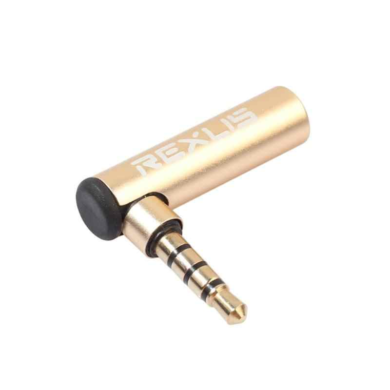 REXUS 3,5 мм мужчин и женщин 90 градусов L-Тип аудио кабель адаптер стерео преобразователь разъем для наушников динамик микрофон
