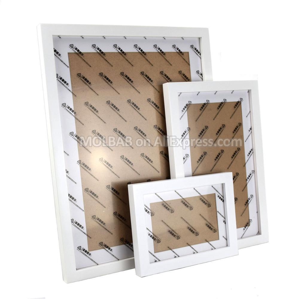MOLBAB gran estilo moderno marco de fotos de madera galería Wall 20 ...