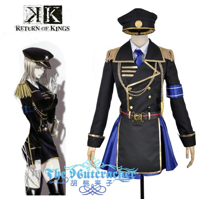 Anime K Return Of Kings Seri Awashima Military Uniform Outfit Cosplay  Costume Custom Made 6/