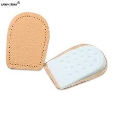 Heel Pad Leather Insoles For Heels Elastic High Shoe Plantar Fasciitis Foot Insert Care