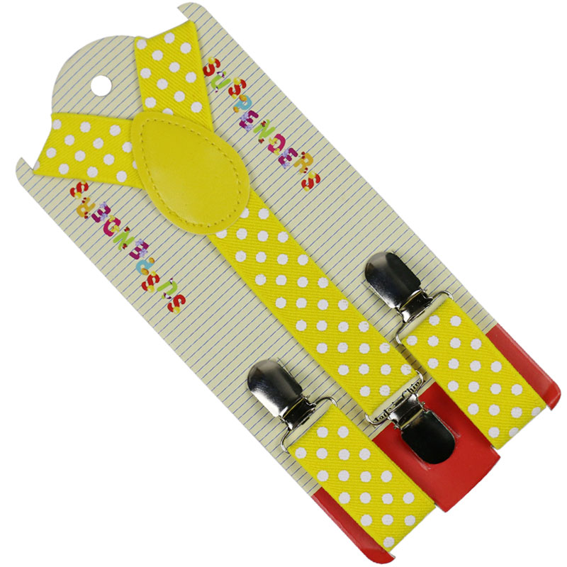 Winfox Fashion Children Suits Polka Dots Suspenders 3 Clip Adjustable Shirts Kids Suspenders For Baby Boys Belt Strap Braces