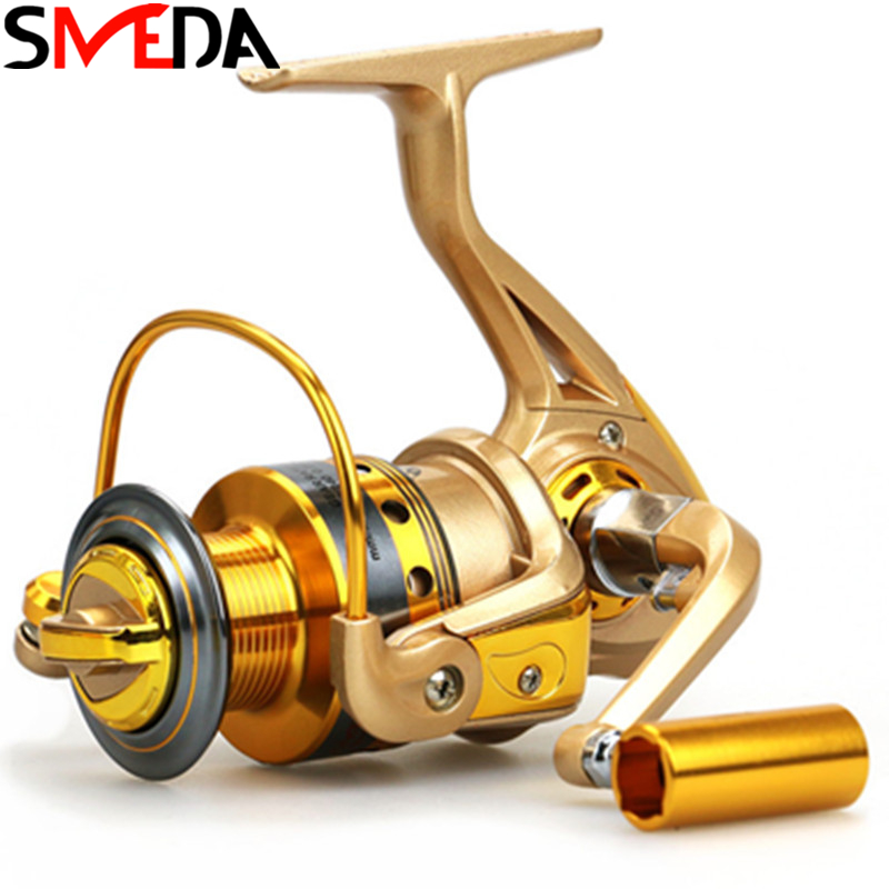 Fishing Reel 1000 7000 12BB 5 2 1 Metal Spinning Wheel For River Fishing Spinning Reel Carp Fishing Carretilha De Pesca in Fishing Reels from Sports Entertainment