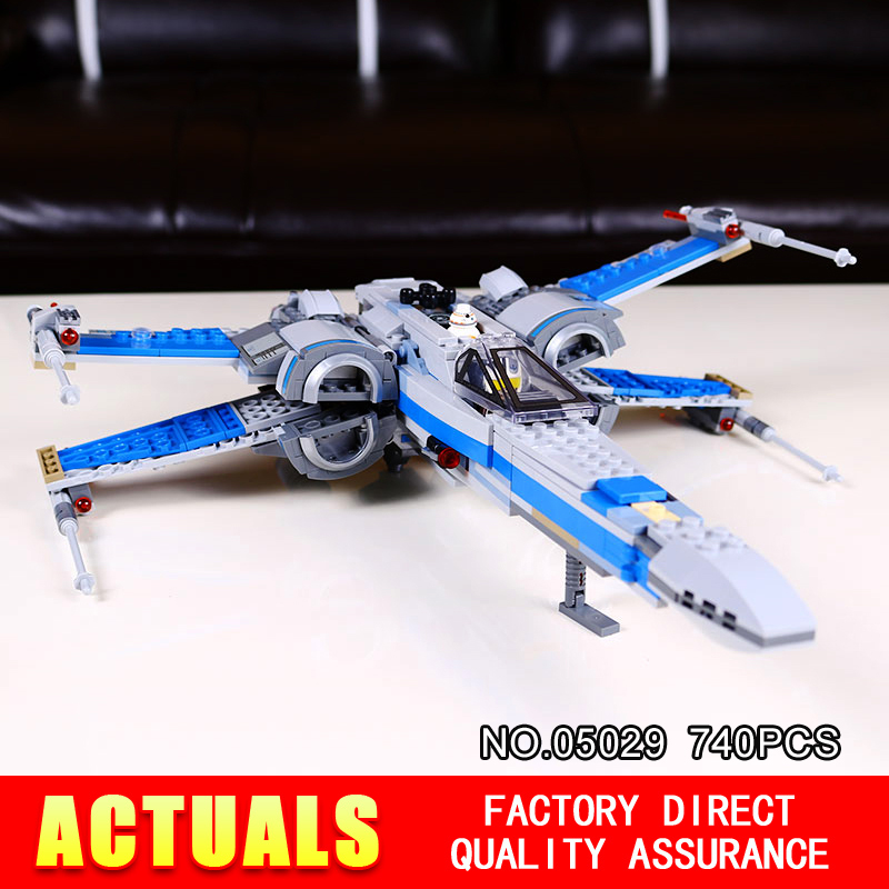 ФОТО 740PCS NEW LEPIN 05029 Star Wars Rebel X-wing fighter KIDS TOY Building blocks assembled Compatible  toys 75149