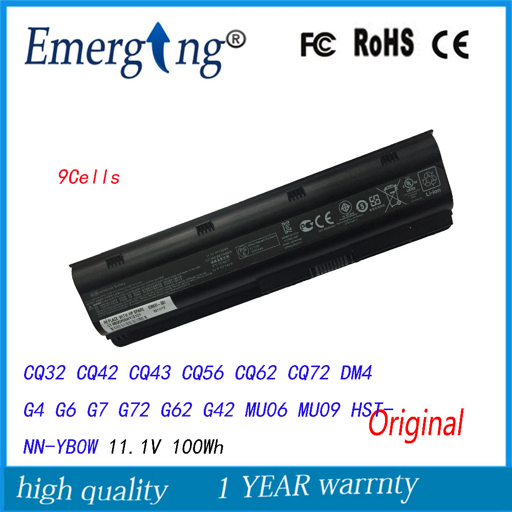 100Wh Original New Laptop Battery MU09 For HP Pavilion G4 G6 G7 G32 G42 mu06 G56 G62 G72 CQ32 CQ42 CQ62 CQ72 DM4 593553-001 100wh original new laptop battery mu09 for hp pavilion g4 g6 g7 g32 g42 mu06 g56 g62 g72 cq32 cq42 cq62 cq72 dm4 593553 001