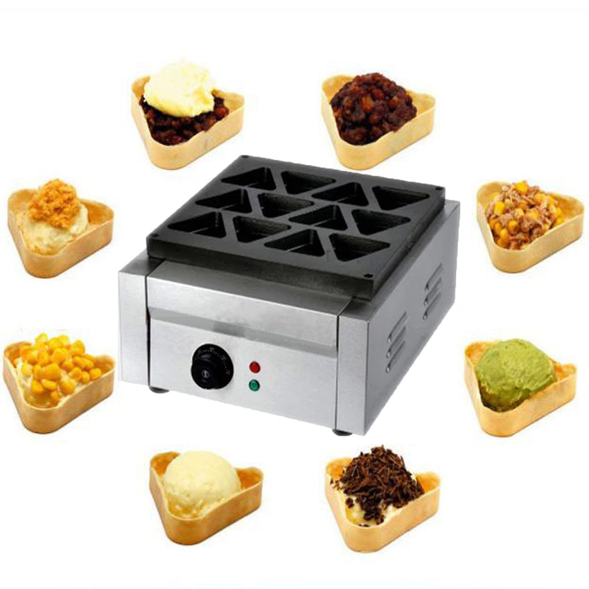 1PC 12hole Electric triangle waffle maker Burger maker Toast bread sandwich waffle maker bread toast crumbs