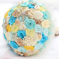 Ocean Beach тема Раковины морские звезды жемчужина свадьбы брошь букет Невесты Невесты Букеты ручной работы алмаз с Цветами в Руках